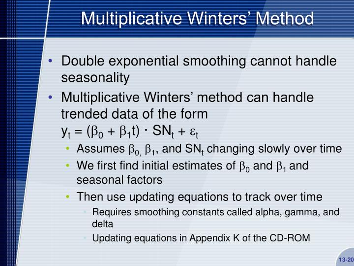Multiplicative Winters' Method