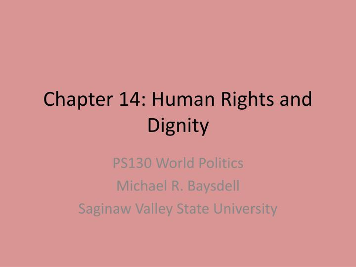 chapter 14 human rights and dignity n.