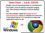 news flash july 8 20009