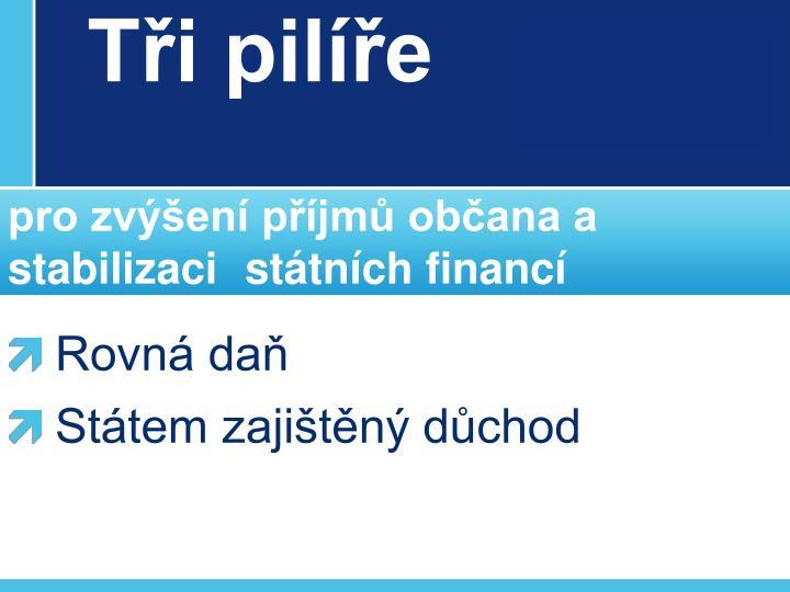 T i pil e pro zv en p jm ob ana a stabilizaci st tn ch financ1