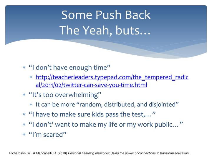 Some Push Back