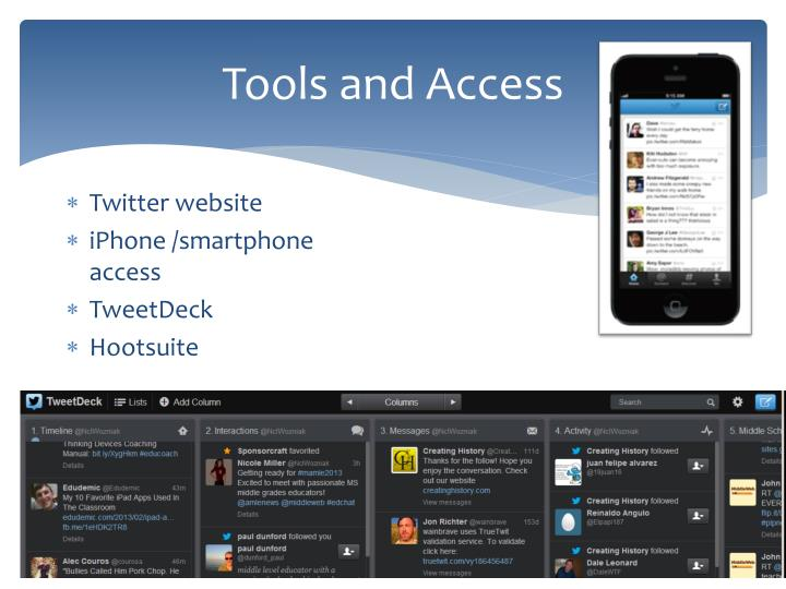 Tools and Access