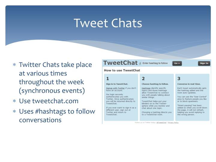 Tweet Chats