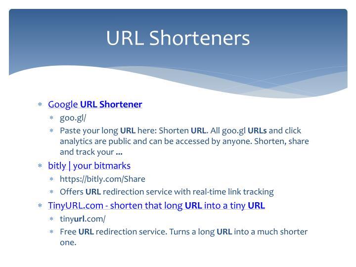 URL Shorteners