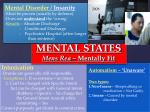 mental states mens rea mentally fit