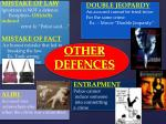 other defences