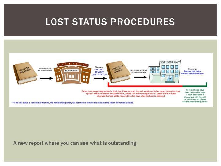 Lost status procedures
