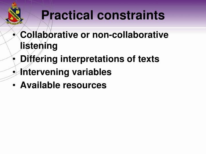 Collaborative or non-collaborative listening