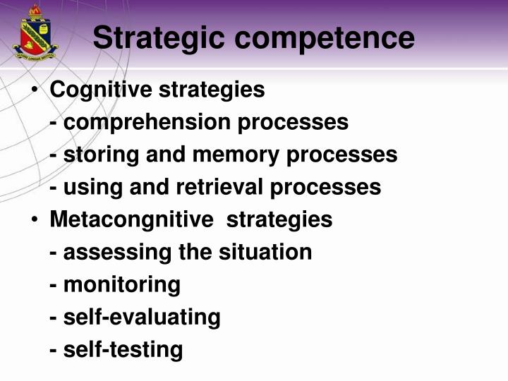 Cognitive strategies