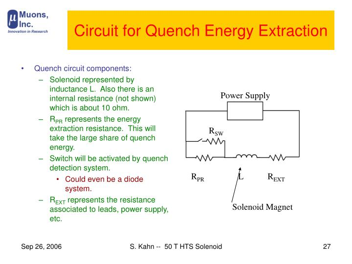 Circuit for Quench Energy Extraction