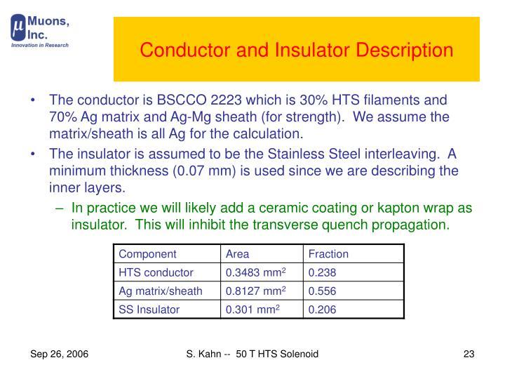 Conductor and Insulator Description