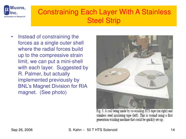 Constraining Each Layer With A Stainless Steel Strip