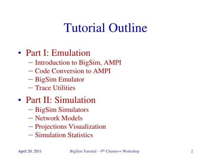 PPT - BigSim Tutorial PowerPoint Presentation - ID:4282148
