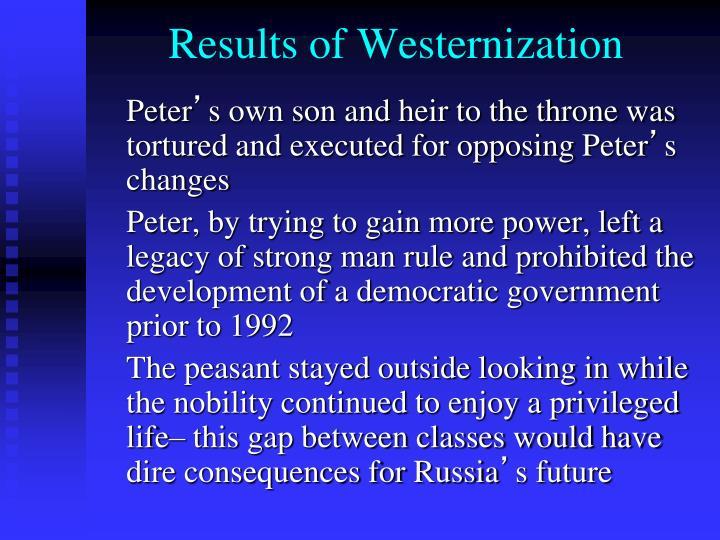 Results of Westernization