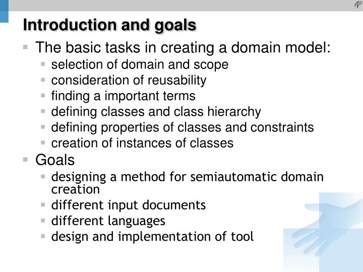 Introduction and goals
