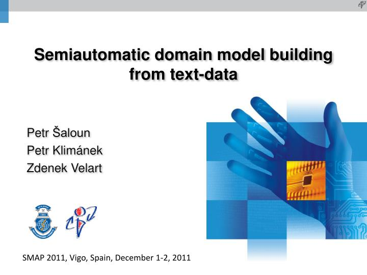 Semiautomatic domain model building from text data