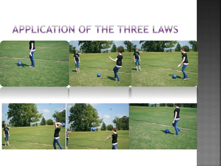 Application of the three laws