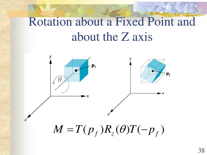Rotation about a Fixed Point and about the Z axis