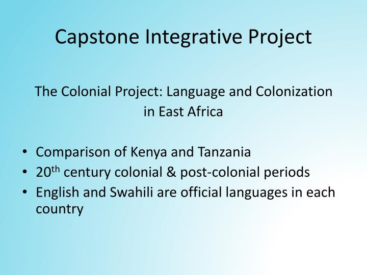 Capstone integrative project