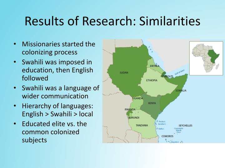 Results of Research: Similarities