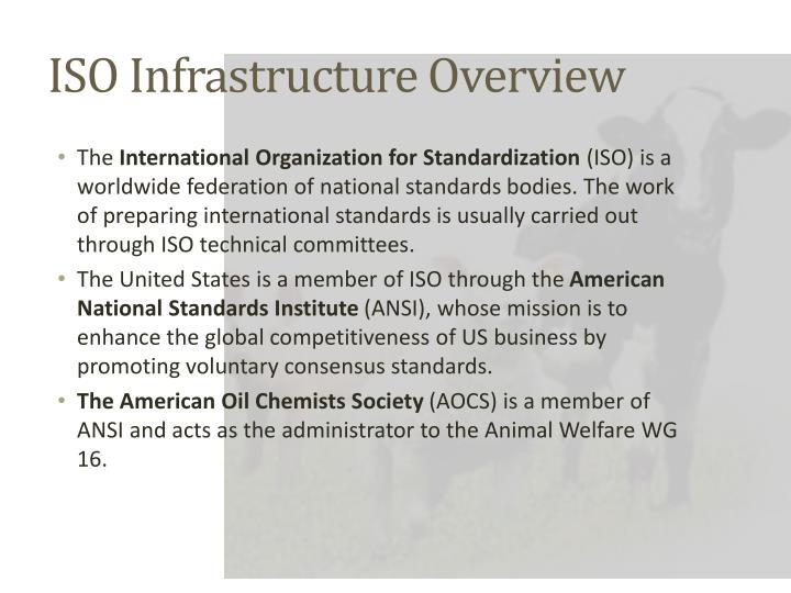 ISO Infrastructure Overview