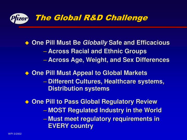 The global r d challenge
