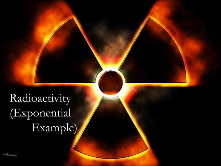 radioactivity exponential example n.