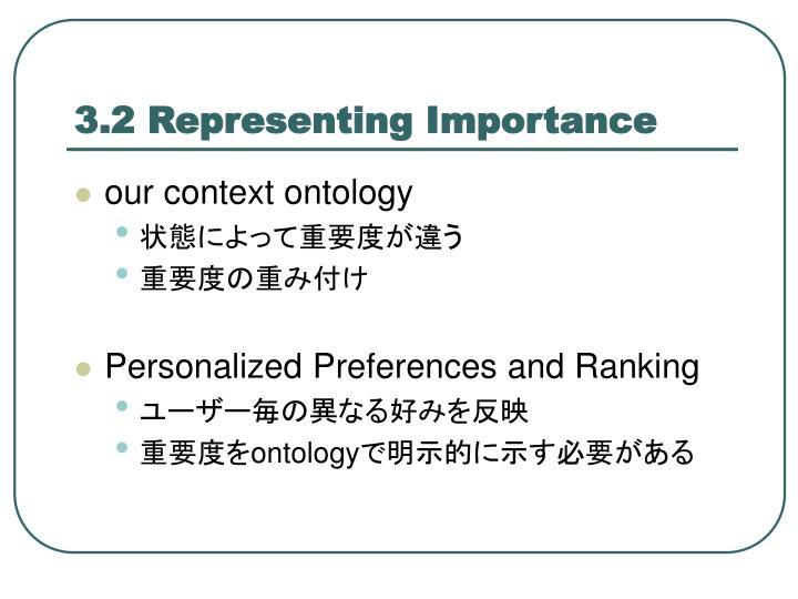 3.2 Representing Importance