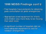 1998 neiss findings cont d