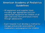 american academy of pediatrics guidelines