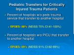 pediatric transfers for critically injured trauma patients