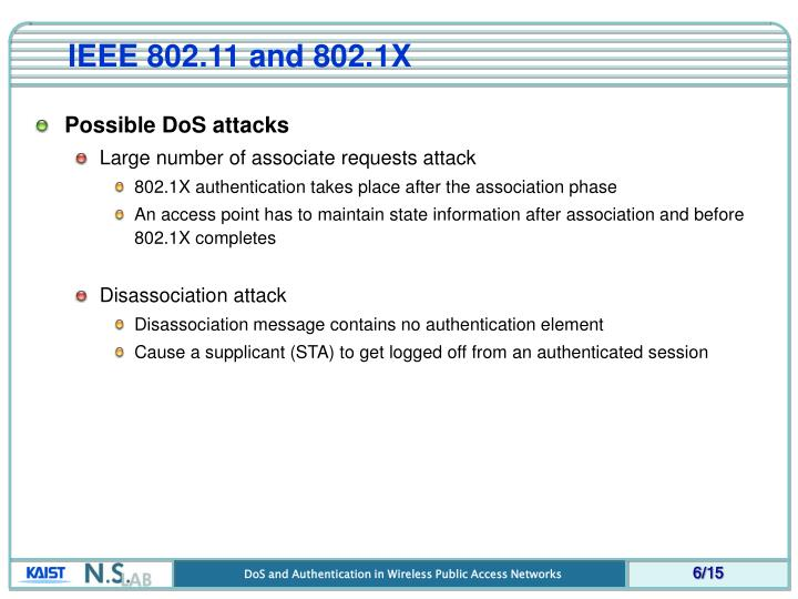 IEEE 802.11 and 802.1X