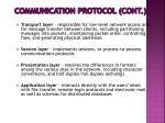 communication protocol cont
