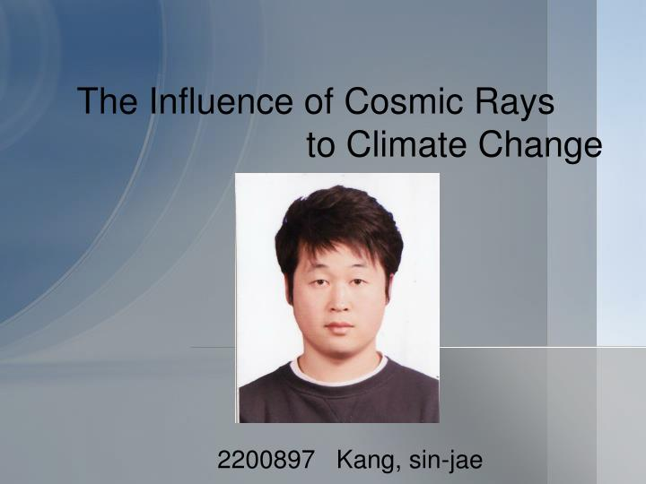 The influence of cosmic rays to climate change