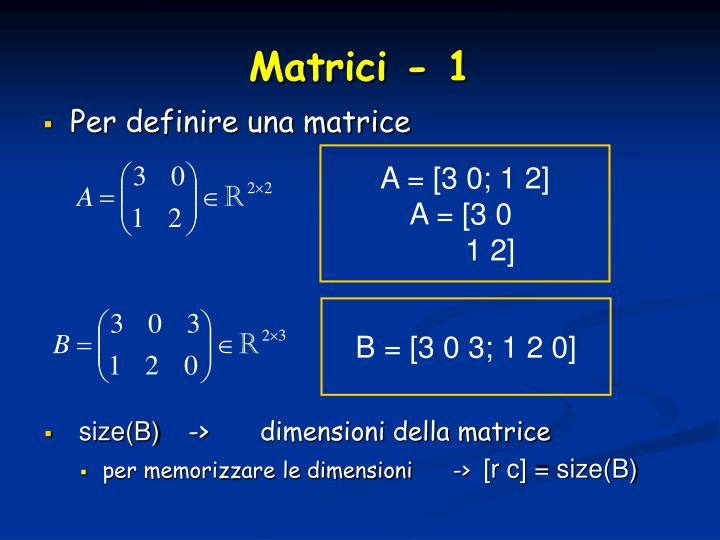 A = [3 0; 1 2]