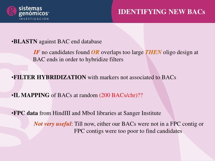 IDENTIFYING NEW BACs