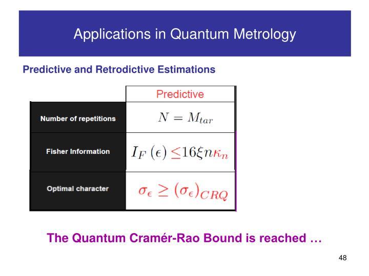 Applications in Quantum Metrology