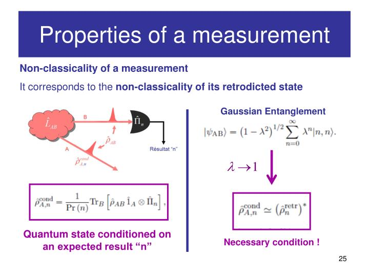 Properties of a measurement