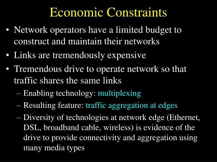 Economic Constraints
