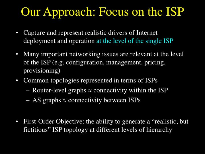 Our Approach: Focus on the ISP