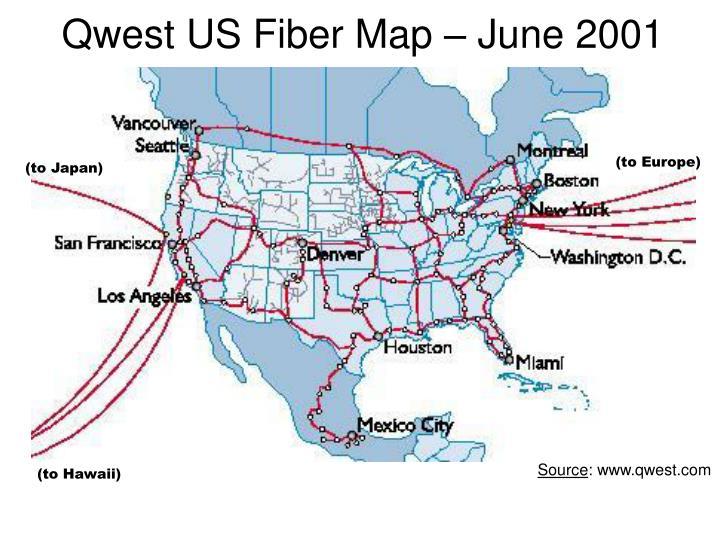 Qwest US Fiber Map – June 2001