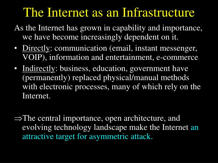 The Internet as an Infrastructure
