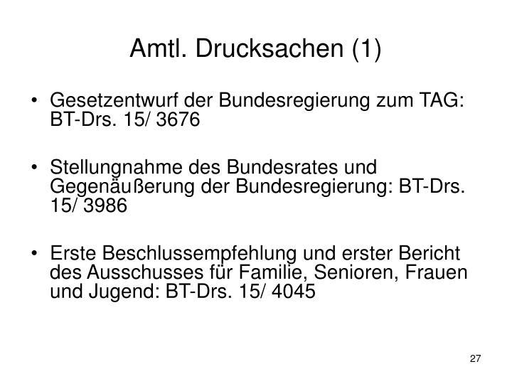 Amtl. Drucksachen (1)