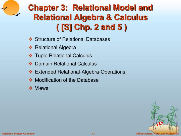 chapter 3 relational model and relational algebra calculus s chp 2 and 5 n.