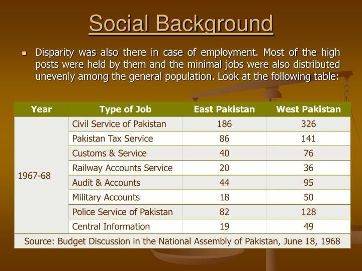 disparity between east and west pakistan