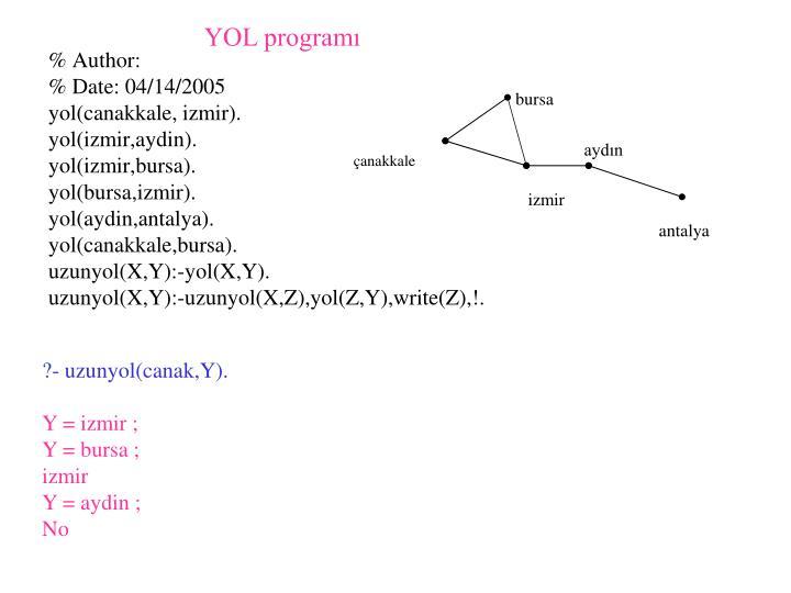 YOL programı
