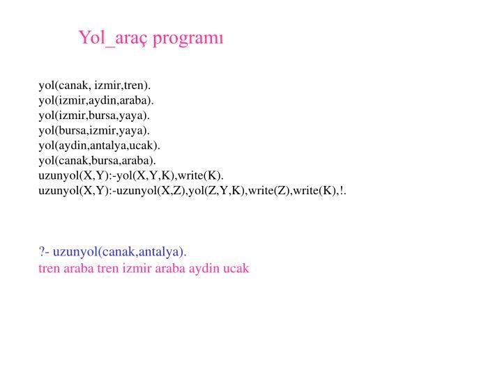 Yol_araç programı