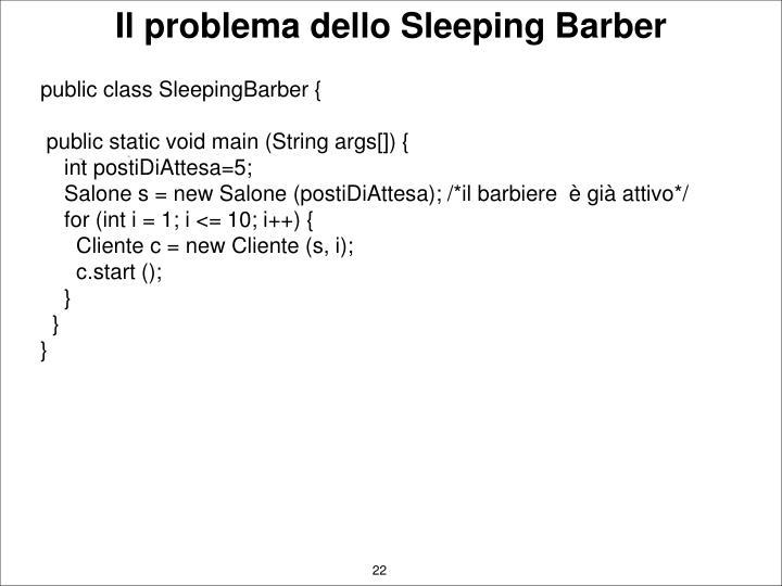 Il problema dello Sleeping Barber
