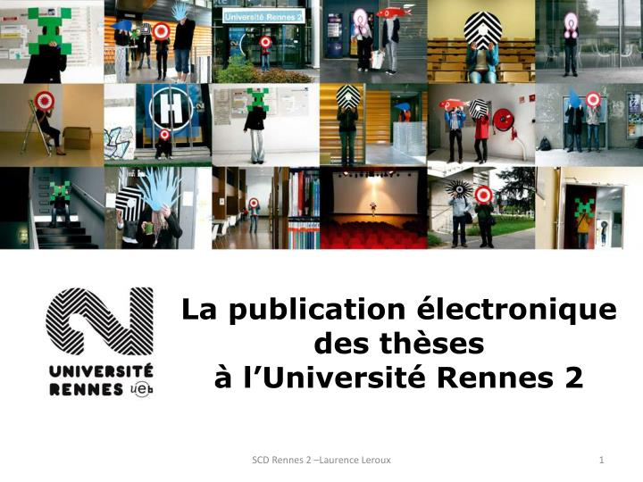 la publication lectronique des th ses l universit rennes 2 n.