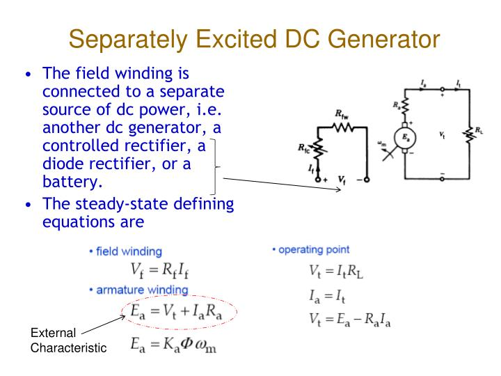 experiment to obtain generator external characteristics Understanding nonlinear loads and generator set interaction gregory m williams, pe caterpillar inc (309) 578-4995 introduction many electrical power applications require continuous and.